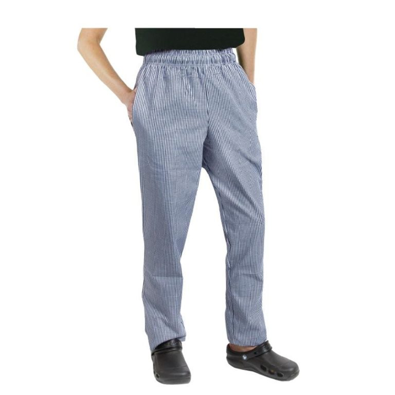 Chef Works Unisex Easyfit Chefs Trousers Small Blue Check L