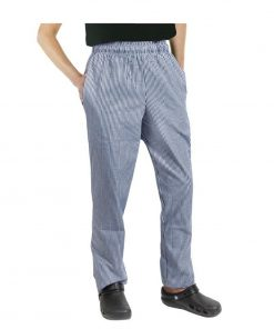 Chef Works Unisex Easyfit Chefs Trousers Small Blue Check XL