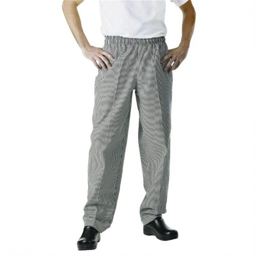Chef Works Unisex Easyfit Trousers Small Black Check  7XL