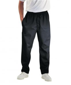 Chef Works Unisex Easyfit Teflon Coated Chefs Trousers Black M