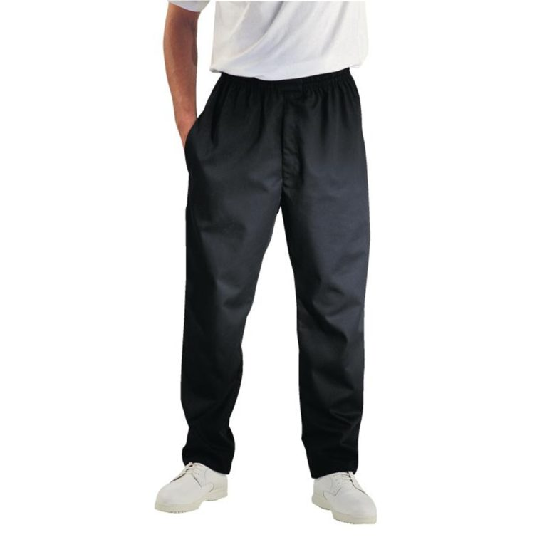 Chef Works Unisex Easyfit Teflon Coated Chefs Trousers Black 2XL