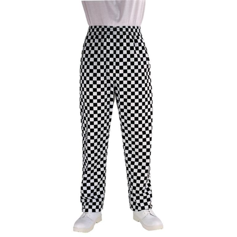 Chef Works Unisex Easyfit Chefs Trousers Big Black Check 2XL