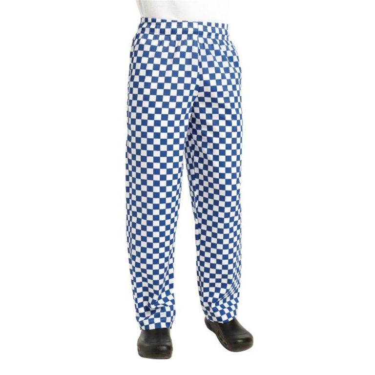 Chef Works Unisex Easyfit Chefs Trousers Big Blue Check L