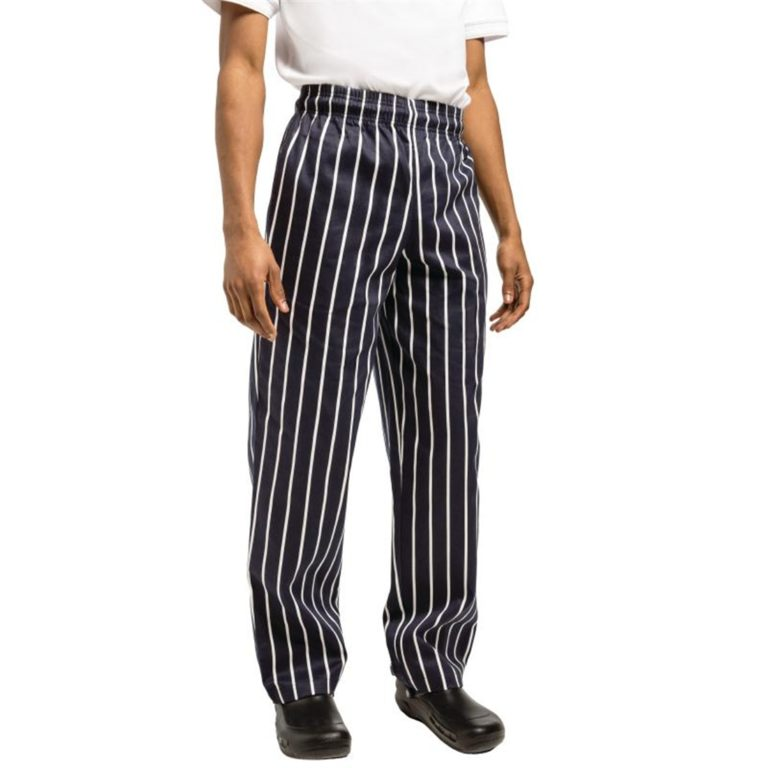 Chef Works Unisex Easyfit Chefs Trousers Butchers Stripe M