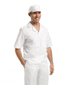 Unisex Bakers Shirt White M