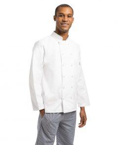 Whites Vegas Unisex Chef Jacket Long Sleeve White - S