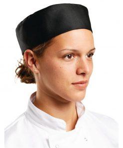 Whites Chefs Skull Cap Polycotton Black - L