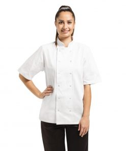 Whites Vegas Unisex Chef Jacket Short Sleeve White - S