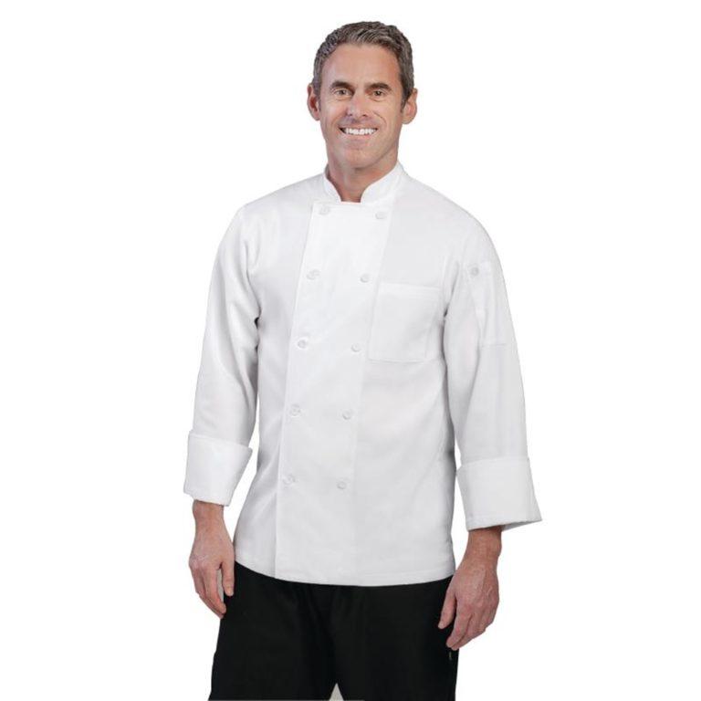 Chef Works Unisex Le Mans Chefs Jacket White XS