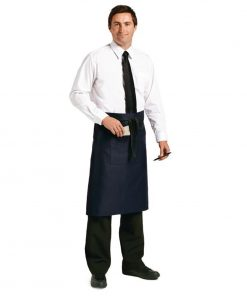 Uniform Works Regular Bistro Apron Navy Blue
