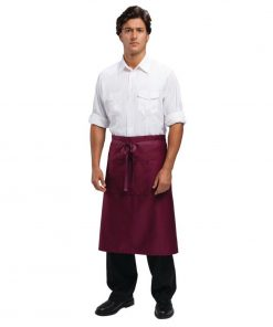Uniform Works Regular Bistro Apron Burgundy