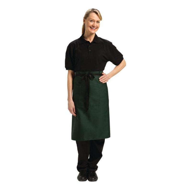 Uniform Works Regular Bistro Apron Green