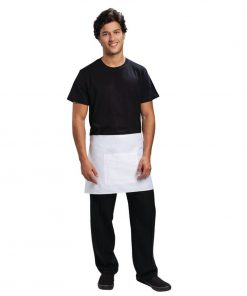 Uniform Works Short Bistro Apron White
