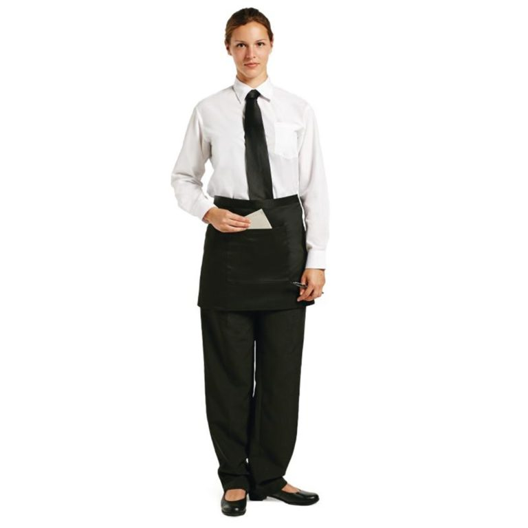 Uniform Works Short Bistro Apron Black