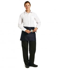 Uniform Works Short Bistro Apron Navy Blue