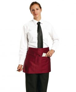 Uniform Works Short Bistro Apron Burgundy