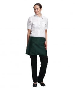 Uniform Works Short Bistro Apron Green
