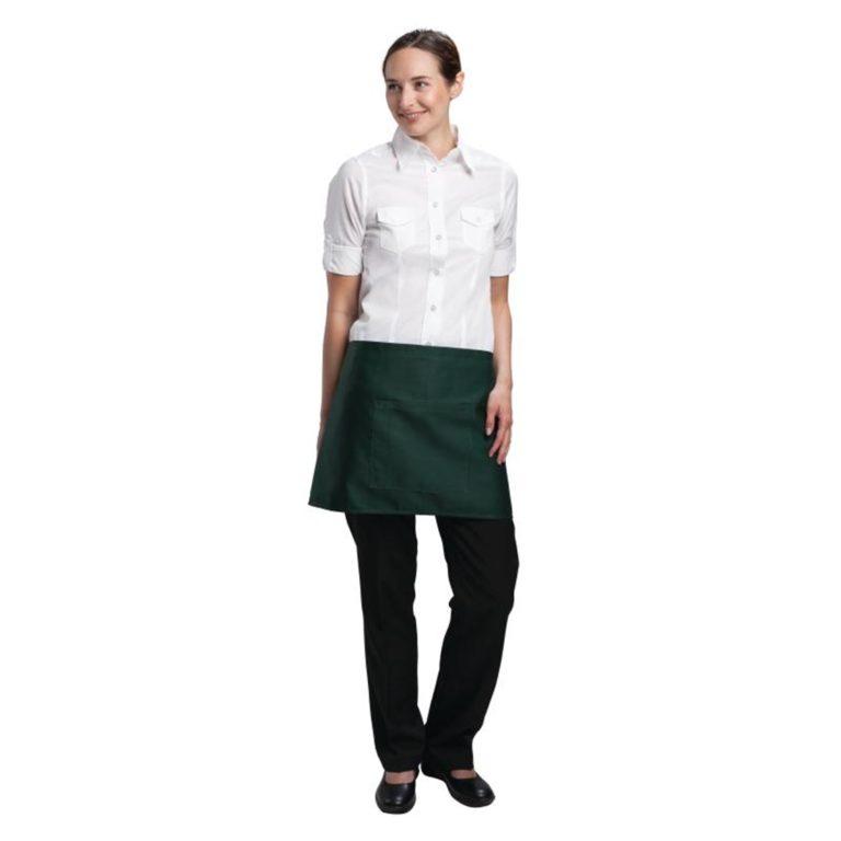 Uniform Works Short Bistro Apron Green