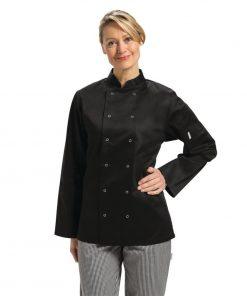Whites Vegas Unisex Chef Jacket Long Sleeve Black - XXL