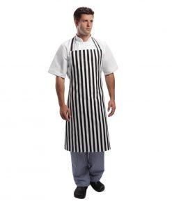 Whites Unisex Bib Apron Black And White Stripe