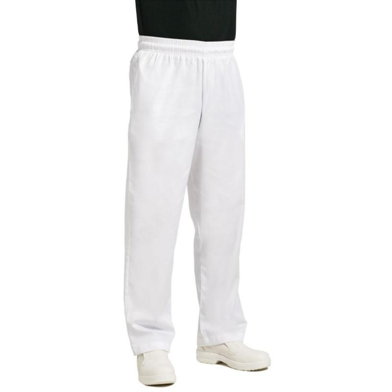 Chef Works Unisex Easyfit Chefs Trousers White XS