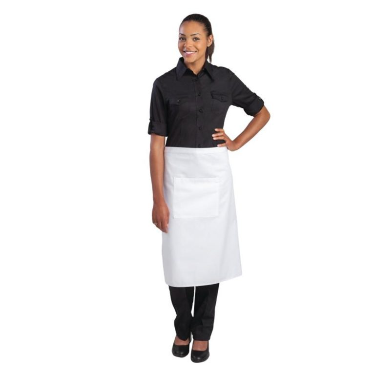 Uniform Works Regular Bistro Apron White