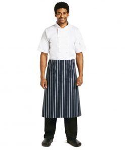 Whites Butchers Unisex Waist Apron  Blue and White Stripe