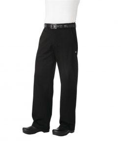 Chef Works Unisex Professional Series Chefs Trousers Black Herringbone XL