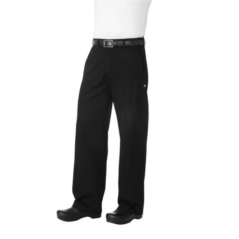 Chef Works Unisex Professional Series Chefs Trousers Black Herringbone XS