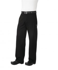 Chef Works Unisex Professional Series Chefs Trousers Black Herringbone 2XL