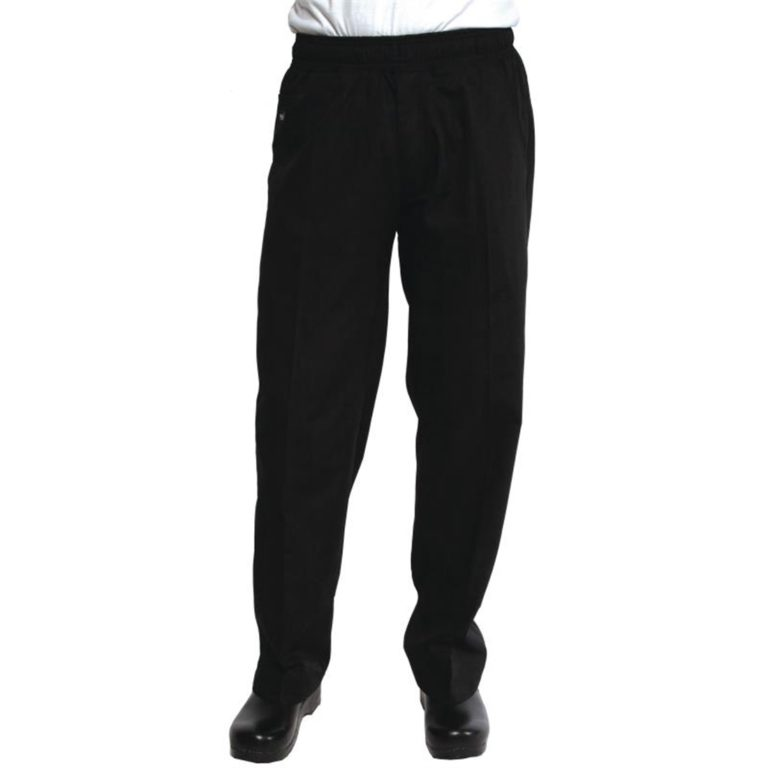 Chef Works Unisex Better Built Baggy Chefs Trousers Black XS