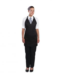 Uniform Works Tuxedo Bib Apron Black