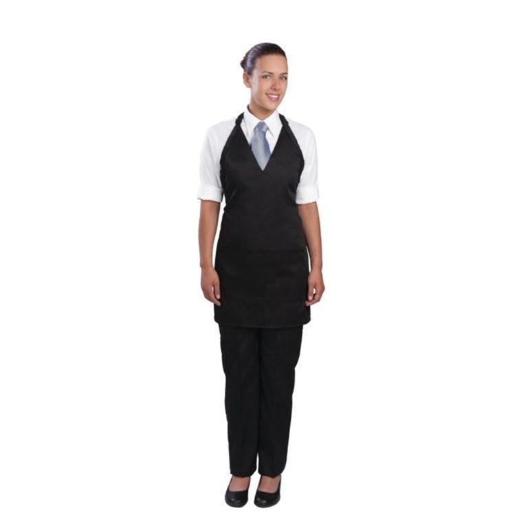 Uniform Works Tuxedo Bib Apron Black