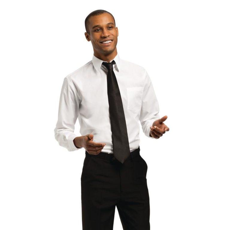 Uniform Works Unisex Long Sleeve Shirt White L