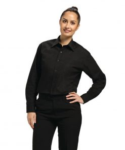 Uniform Works Unisex Long Sleeve Dress Shirt Black S