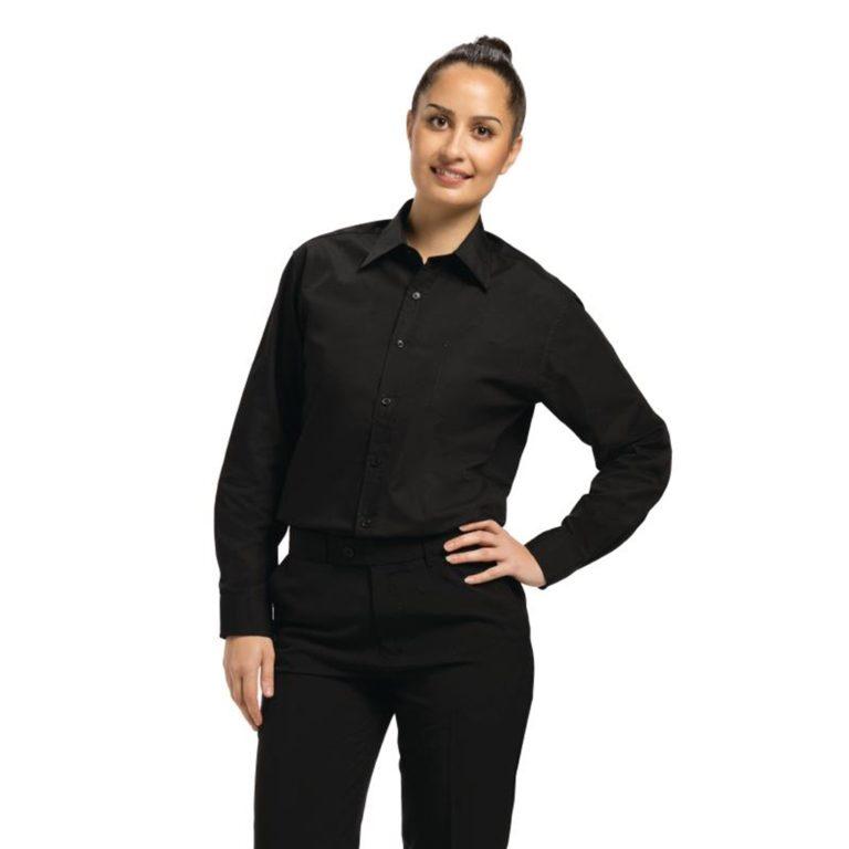 Uniform Works Unisex Long Sleeve Dress Shirt Black S