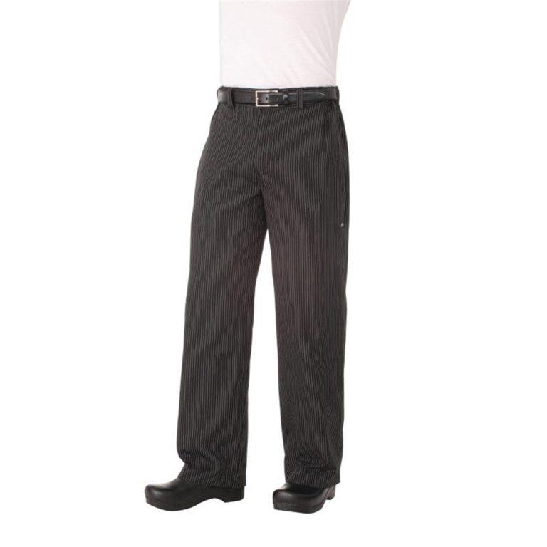 Chef Works Unisex Professional Series Chefs Trousers Grey Herringbone Stripe L