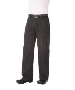 Chef Works Unisex Professional Series Chefs Trousers Grey Herringbone Stripe XS