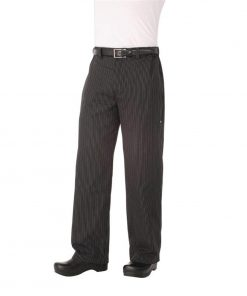 Chef Works Unisex Professional Series Chefs Trousers Grey Herringbone Stripe 2XL
