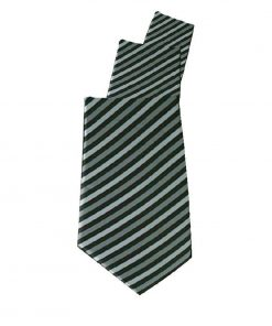 Uniform Works Tie Grey Skinny Stripe