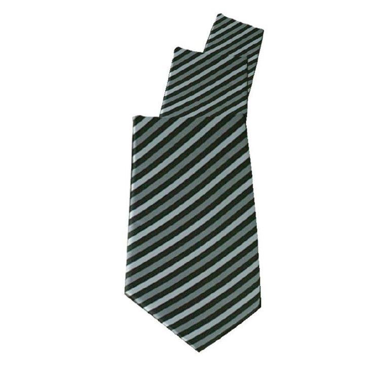 Uniform Works Tie Grey Skinny Stripe