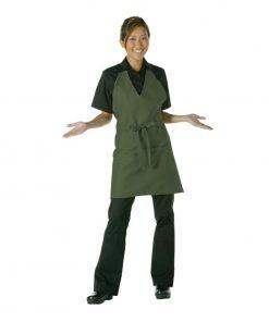 Uniform Works Tuxedo Bib Apron Olive