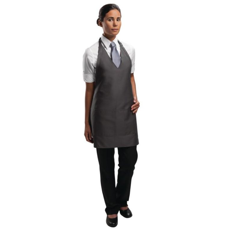 Uniform Works Tuxedo Bib Apron Slate
