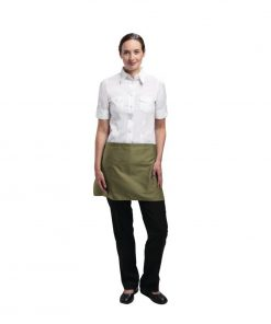 Uniform Works Short Bistro Apron Olive
