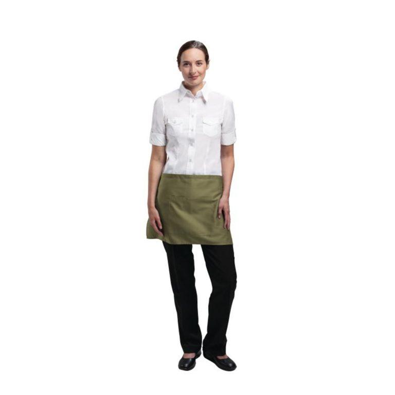 Uniform Works Short Bistro Apron Olive