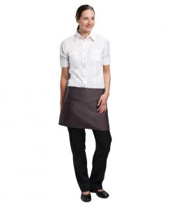 Uniform Works Short Bistro Apron Charcoal