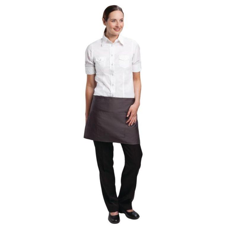 Uniform Works Short Bistro Apron Charcoal