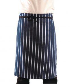 Whites Butchers Unisex Waist Apron  Navy Stripe XL