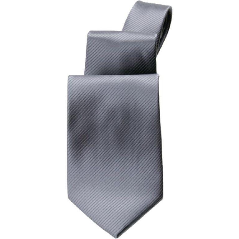 Uniform Works Plain Grey Tie