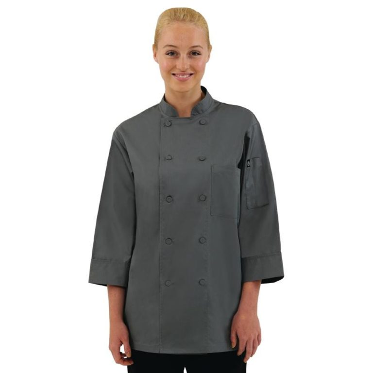 Chef Works Unisex Chefs Jacket Grey S